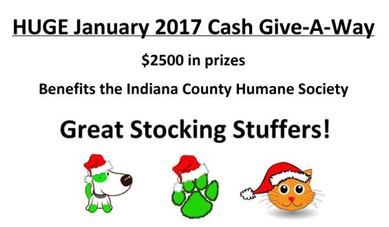 HUGE January 2017 Cash Give-A-Way