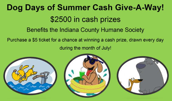 Dog Days of Summer Cash Give-A-Way!